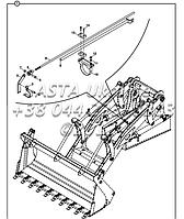 Выравнивающий механизм для экскаватора-погрузчика Hidromek 102B