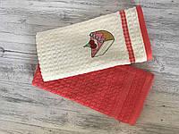 Набор кухонных махровых полотенец (в упаковке 2 шт.) цвета в ассортименте