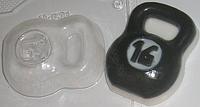 Пластиковая форма для мыла Гиря