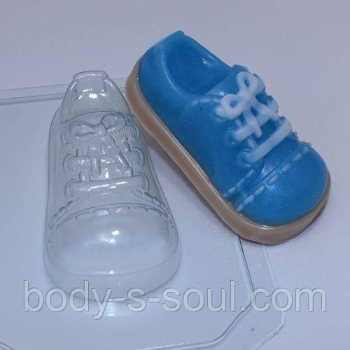 Пластиковая форма для мыла Ботинок детский
