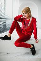 Женский бархатный спортивный костюм Кензо