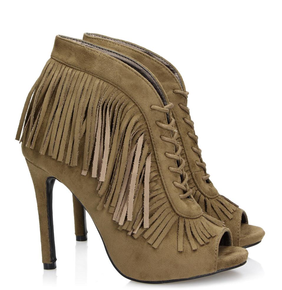 449f5106f Стильные ботинки с открытым носком купить Киев Украина фото 2016 Shaggy  Green