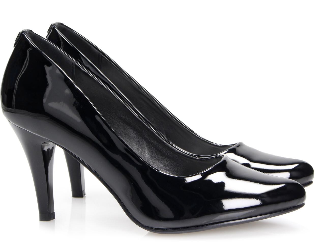 Классические лаковые туфли на каблуке купить Киев Украина фото 2016 Nominal Black