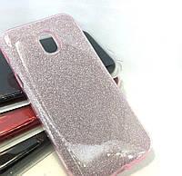 Силиконовая накладка Gliter для Samsung J730 (Pink)