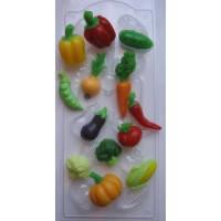 Пластиковая форма для мыла Овощное ассорти