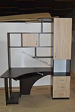 Стол компьютерный угловой ОСКАР 3д цвет венге магия+ дуб сонома