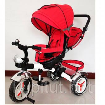 Детский трехколесный велосипед Turbo Trike M 3200A-3, красный