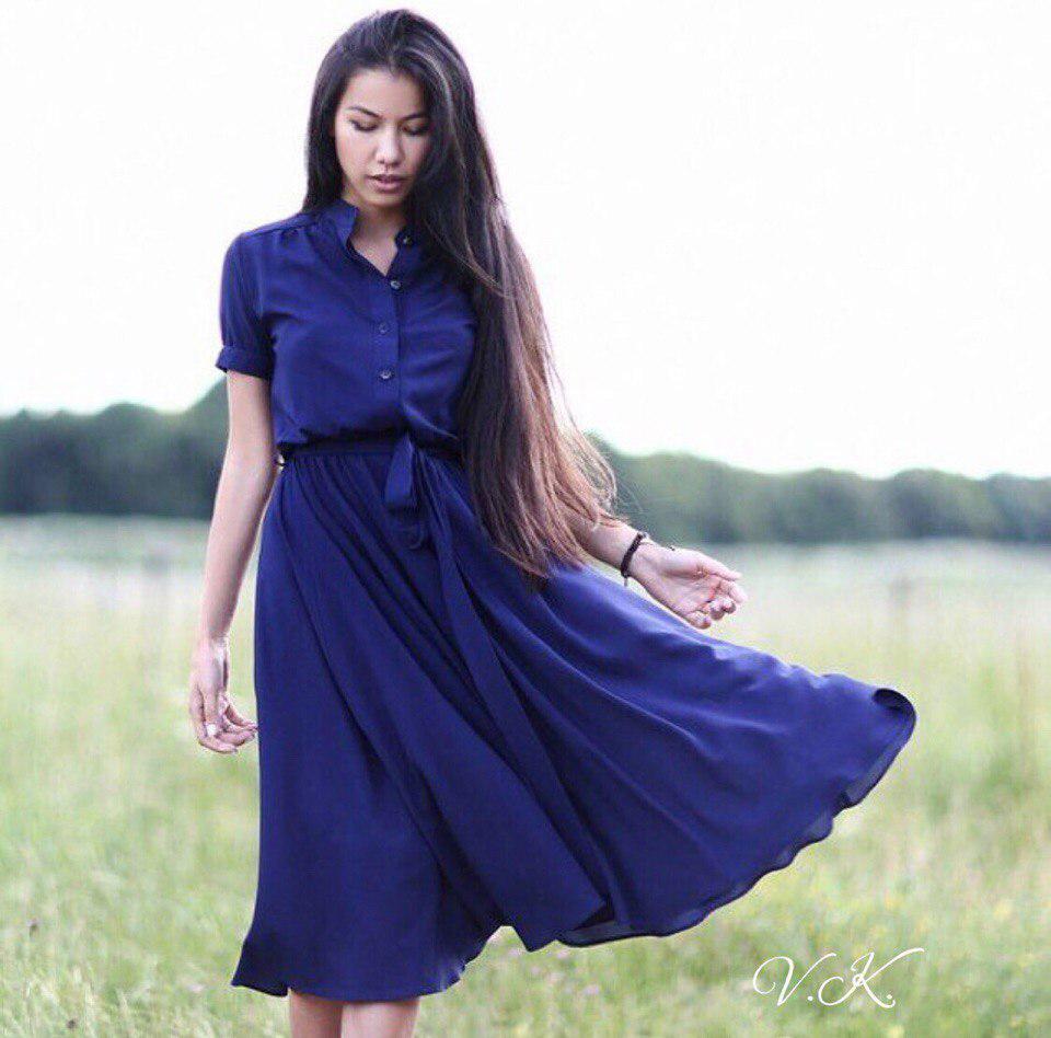 326f75a1ae1 Женское шифоновое платье с поясом -