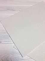 Фоамиран 2мм  с глитером (белый), фото 1