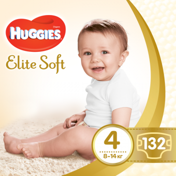 Подгузники Huggies Elite Soft 4 (8-14 кг) 132 шт.