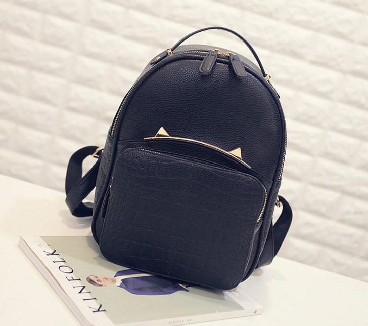 Модный портфель женский черный