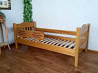 """Детская кровать с бортиком """"Фудзи"""" (190\200*80\90). Массив - береза. Палитра - 10 цветов на выбор."""