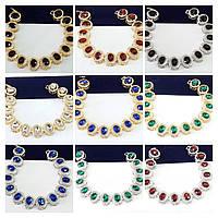 1095 Нарядные женские браслеты из кристаллов. Ювелирная бижутерия оптом.