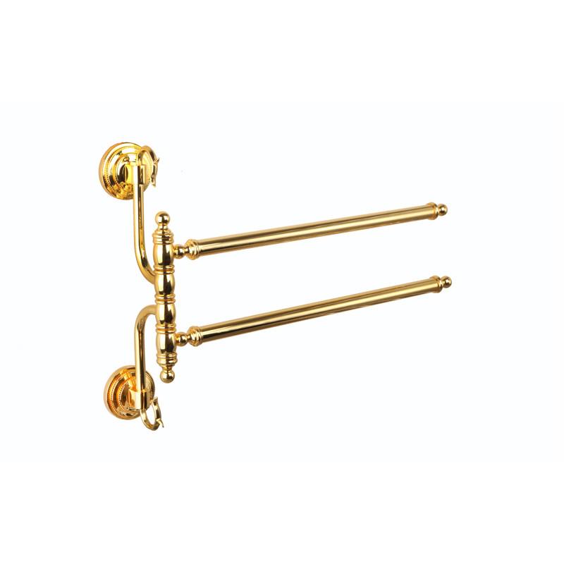 Вешалка для полотенец двойная ( Versace ), золото A231026