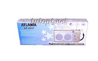 Радиоприемник Atlanfa AT-8957 аккумуляторный, USB/SD проигрыватель