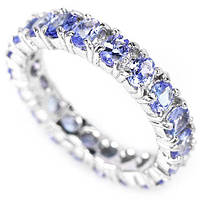Серебряное кольцо с танзанитами ААА 4 мм* 3 мм