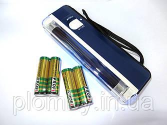 Детектор валют ручної ультрафіолетовий + 4 батарейки в комплекті