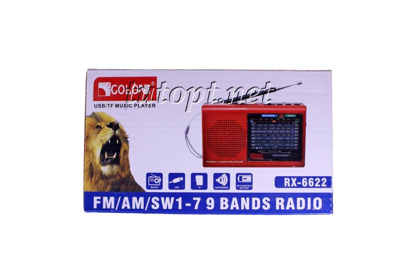 Радиоприемник Golon RX-6622 аккумуляторный, USB/SD проигрыватель