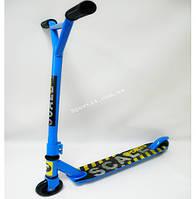Трюковой самокат Scale Sport Экстрим для начинающих, металлический обод, голубой
