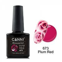 Акварельный гель-лак пурпурный Canni  №673 7.3 мл