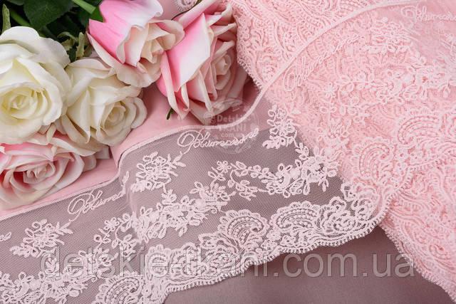 Кружево блюмарин розового цвета