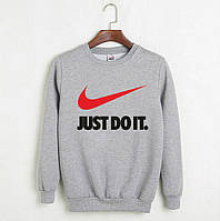 Свитшот Nike Just Do It | серый | толстовка | реглан | реплика