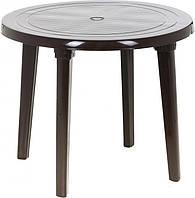 Стол пластиковый круглый шоколад