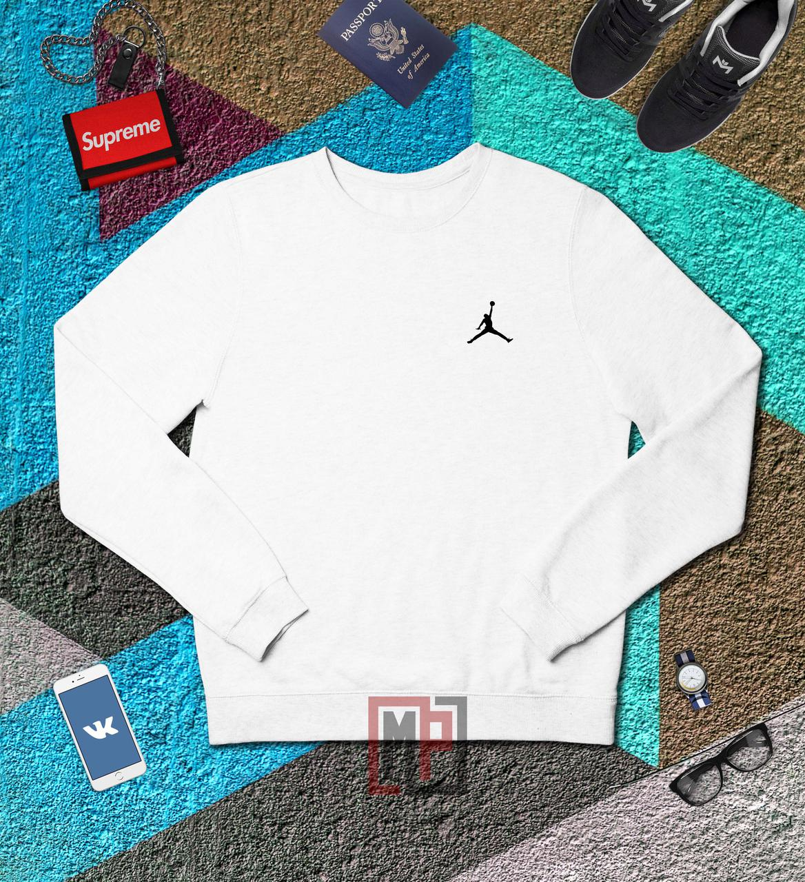 ac0241a9 Свитшот Air Jordan   белый   толстовка   реглан   реплика -  Интернет-магазин хайповой