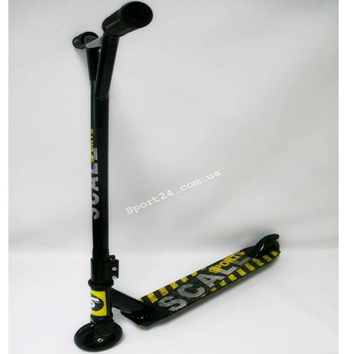 Трюковой самокат Scale Sport Экстрим для начинающих, металлический обод, черный ABEC 11