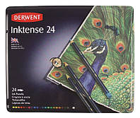 Набор акварел. карандашей 24цв., метал, INKTENSE, Derwent