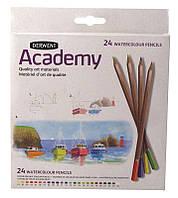 Набор акварел. карандашей 24цв., картон., Academy WaterСolour, Derwent