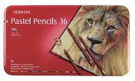 Набор пастельных карандашей 36цв., метал, Pastel Pencils, Derwent