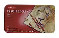 Набор пастельных карандашей 72цв., метал, Pastel Pencils, Derwent