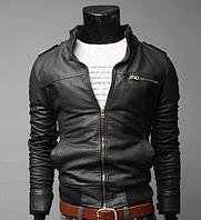 Классическая демисезонная мужская куртка ВСКА ( черная ) код 47