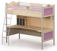 Кровать+стол A-16-1 Angel береза с цветными вставками