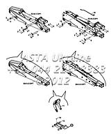 Крепления съемного оборудования для экскаватора-погрузчика Hidromek 102B