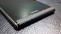 Декоративная защитная пленка для Huawei P6 микрокарбон черный, фото 1