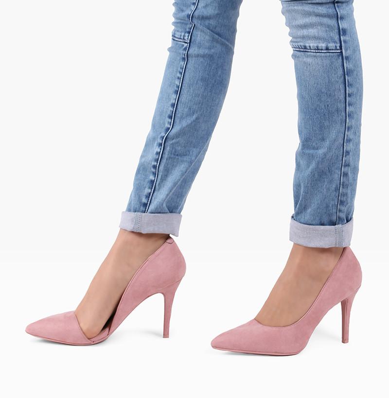 7c69e8618 Неоновые туфли на каблуке Desire Pink - Польская обувь
