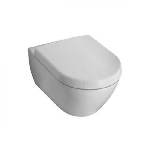 VERITY DESIGN комплект: унитаз подвесной,БЕЗ ОБОДКА 37*56см, горизонт.выпуск, сиденье QuickRelease и SoftClosi