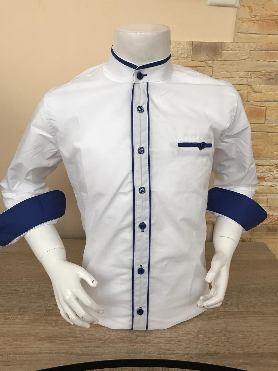 Детская рубашка стойка 10-15