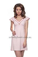 Жіноча сорочка ELLEN Рожевий Горошок закриті плечики 134/001, фото 1