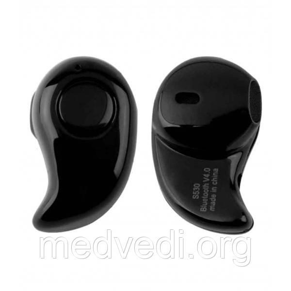 Блютуз гарнитура S530 черная, беспроводная (Bluetooth наушник)