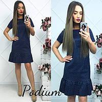 Красивое  платье в мелкий горох.  КР-04.012, фото 1