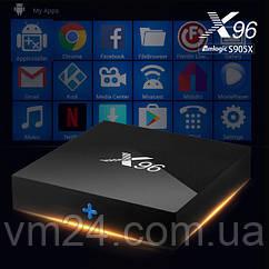 ТВ-приставка X96 (2/16 ГБ)Android TV box 4K (UltraHD) Amlogic S905W медіаплеєр