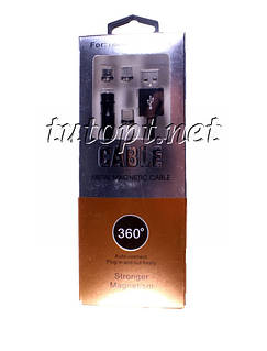 Магнитный кабель 3 в 1 для Lightning Apple, MicroUSB и Type-C