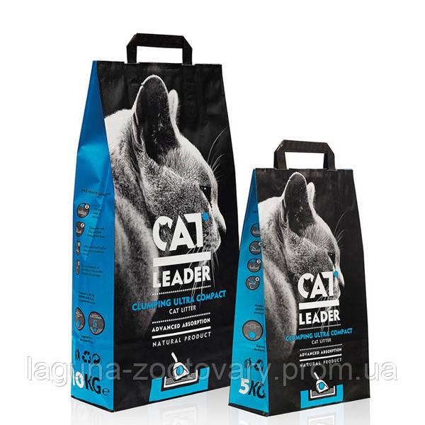 Кэт Лидер (CAT LEADER)  2кг ультра-комкующийся наполнитель в кошачий туалет