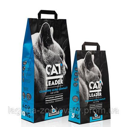 Кэт Лидер (CAT LEADER)  2кг ультра-комкующийся наполнитель в кошачий туалет, фото 2