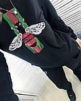 Женский костюм двойка декорирован нашивкой из пайеток, фото 2