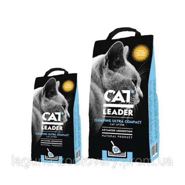 Кэт Лидер (CAT LEADER) с WILD NATURE 2кг ультра-комкующийся наполнитель в кошачий туалет