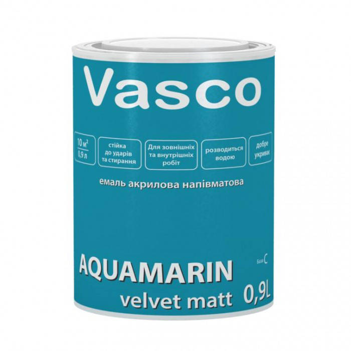 VASCO AQUAMARIN  Полуматовая белая, 0.9 л